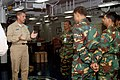 US Navy 071205-N-2259V-001 Capt. David F. Bean, executive officer aboard the amphibious assault ship USS Tarawa (LHA 1), gives Bangladeshi military officials a guided tour of the ship's medical department.jpg