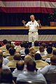 US Navy 080724-N-8273J-188 Chief of Naval Operations (CNO) Adm. Gary Roughead speaks with Sailors during an all-hands call at Norfolk Naval Base.jpg