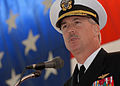 US Navy 090109-N-1522S-007 Rear Adm. Townsend G. Alexander speaks during a change of command ceremony.jpg