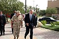 US Navy 090804-N-1027S-099 Vice Adm. Bill Gortney, Commander, U.S. Naval Forces Central Command, left, walks with Secretary of the Navy (SECNAV) the Honorable Ray Mabus at Naval Support Activity Bahrain.jpg