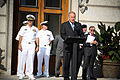 US Navy 090905-N-3271W-047 Ohio Governor Ted Strickland speaks during a proclamation ceremony for Central Ohio Navy Week.jpg