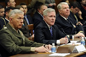 Ray Mabus - Gen. James T. Conway, Sec. Mabus, and Adm. Gary Roughead testify before Congress in February 2010.