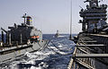 US Navy 100623-N-6362C-103 The Military Sealift Command fleet replenishment oiler USNS John Lenthall (T-AO 189) conducts a replenishment at sea with the aircraft carrier USS Harry S. Truman (CVN 75).jpg