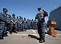 US Navy 110804-N-DR144-627 Master Chief Petty Officer of the Navy (MCPON) Rick D. West talks with Sailors aboard USS Gridley (DDG 101).jpg