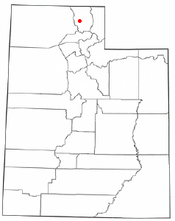 Location of Nibley, Utah