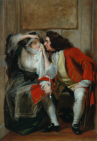 Charles Robert Leslie - Uncle Toby and Widow Wadman from Laurence Sterne's The Life and Opinions of Tristram Shandy, Gentleman. In Shandy Hall, Coxwold, North Yorkshire.