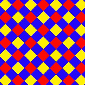 Alternated hypercubic honeycomb - Image: Uniform tiling 44 t 02