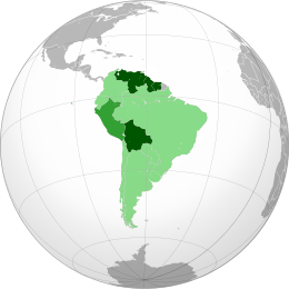 UNASUR members (dark green)