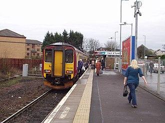 East Kilbride railway station - Image: Unit 156435 at East Kilbride railway station in 2006