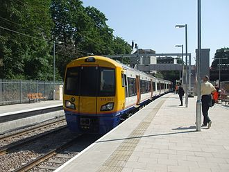 London Overground - A London Overground British Rail Class 378 ''Capitalstar'' at Canonbury railway station