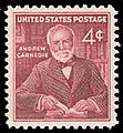 United States postage stamp honoring Andrew Carnegie (1960).jpg
