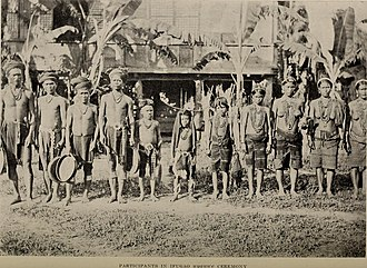 Ifugao - Participants in Ifugao uyauwe ceremony, c. 1903