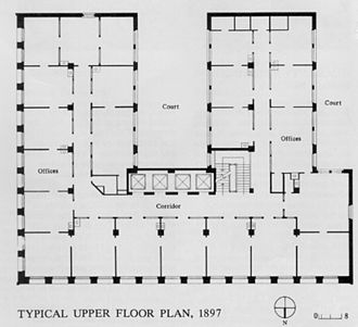 Prudential (Guaranty) Building - Typical upper floor plan