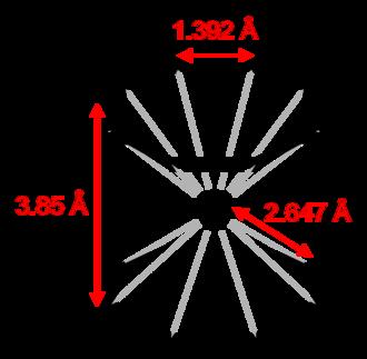 Uranocene - Image: Uranocene 2D dimensions