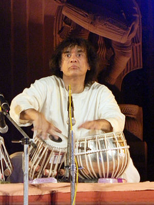 Tabla - Ustad Zakir Hussain performing at Konark, Odisha