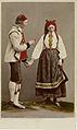 Världsutställningen i Paris 1867. Man och kvinna i dräkter från Hetterdal, Telemarken, Norge - Nordiska Museet - NMA.0039948.jpg