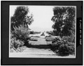 VIEW DOWN PASEO DELICIAS FROM LA MORADA, JULY 1925 - Rancho Santa Fe Civic Center, Rancho Santa Fe, San Diego County, CA HABS CAL,37-RANSF,3-3.tif