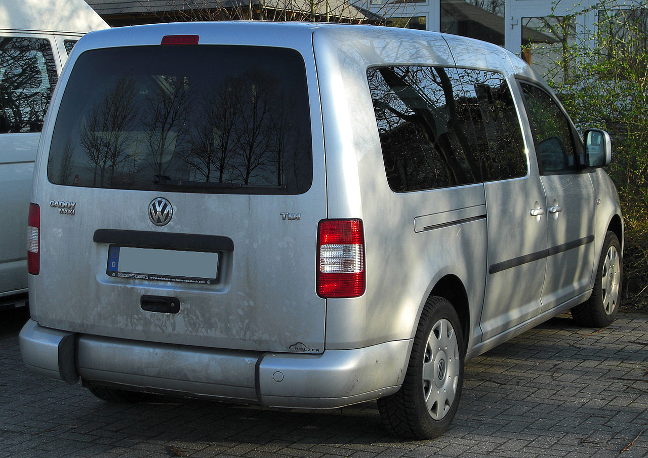 file vw caddy life maxi rear wikimedia commons. Black Bedroom Furniture Sets. Home Design Ideas