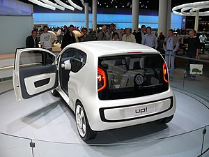 VW up! rear left view