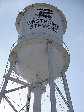 Valley, Alabama - Image: Valley Alabama West Point Stevens Water Tower
