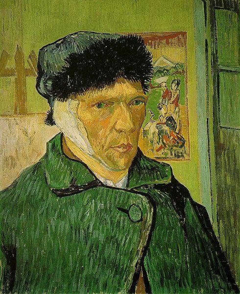Autoritratto con orecchio bendato, di Van Gogh
