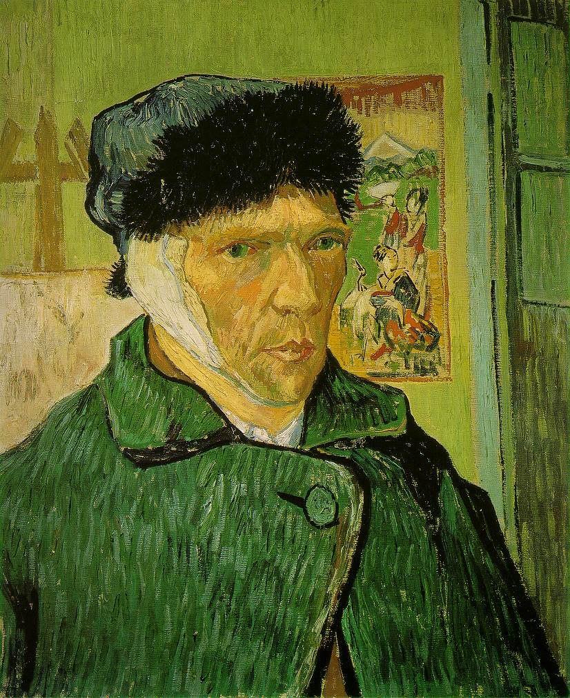 VanGogh-self-portrait-with bandaged ear