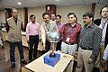 Van de Graaff Generator Experimentation - Indo-Finnish-Thai Exhibit Development Workshop - NCSM - Kolkata 2014-11-27 9743.JPG