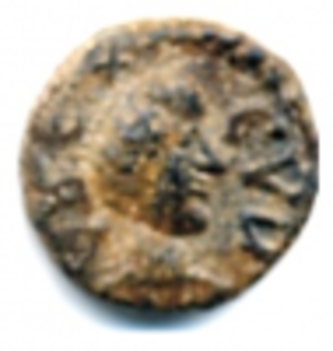 Godas - Vandal coin found in Sardinia depicting Godas. Latin legend : REX CVDA.