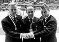 Veikko Kankkonen, Toralf Engan and Torgeir Brandtzaeg 1964.jpg