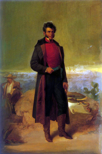 Oil painting of Vicente Guerrero, by Ramon Sagredo (1865) Vicente Guerrero (1865).png