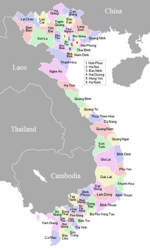 vietnamn karta Vietnams provinser – Wikipedia vietnamn karta