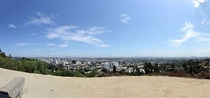 Runyon Canyon Park - View towards Downtown Los Angeles from Inspiration Point