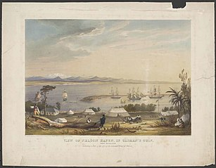 View of Nelson Haven, Tasman's Gulf, New Zealand, including a part of the site of the intended town of Nelson