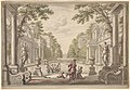 View of a Palace Garden with a Central Pond Surrounded by Classical Architecture (Tapestry or Stage Design?) MET DP832013.jpg