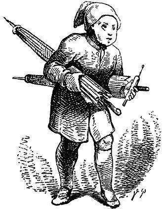 """Sandman - Vilhelm Pedersen drew this representation of the Sandman for the fairytale """"Ole Lukøje"""" (Mr. Sandman) by Hans Christian Andersen."""