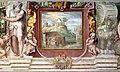 Villa giulia, piano nobile, sala A, affreschi di taddeo zuccari e prospero fontana 11 sette colli di roma, celio con colosseo 02.jpg