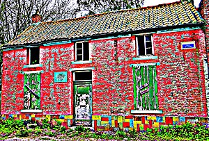 Wasmes - Vincent van Gogh - 1878 1879 - Wasmes - House off baker Denis - Corner street e du petit-Wasmes and street Wilson