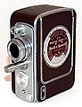Vintage Bell & Howell 8mm Home Movie Camera With One Turret Lens, Model 172-A, Made In USA, Circa 1954 (39059334221).jpg