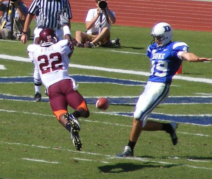 Virginia Tech Hokies block punt vs Duke