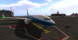 Second Life - A virtual commercial airliner