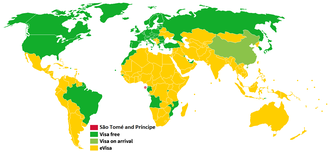 Visa policy of São Tomé and Príncipe - Visa policy of São Tomé and Príncipe