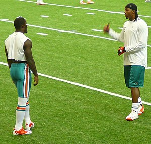 Sean Smith (cornerback) - Smith (right) with fellow Dolphins' starting cornerback Vontae Davis in 2011.