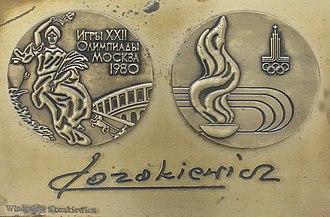 Władysław Kozakiewicz - Image: Władysław Kozakiewicz medal & autograph