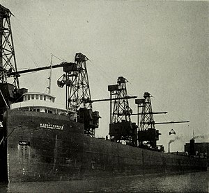 "Western Dry Dock and Shipbuilding Company - W. Grant Morden, first Canadian ship to hold the title ""Queen of the Lakes"", largest freighter on the Great Lakes"