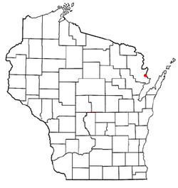 Location of Porterfield, Wisconsin