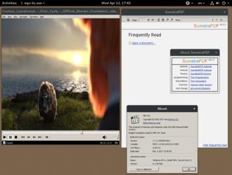 Sumatra PDF - Image: WINE v 2.0.5 running Sumatra PDF & MPC HC on GNOME & Fedora