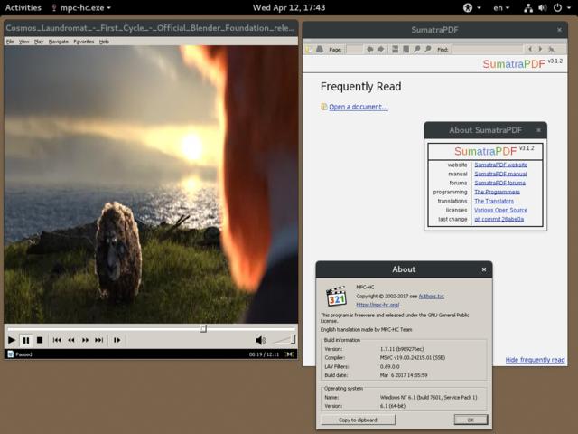 WINE_v2.0.5_running_Sumatra_PDF_%26_MPC-HC_on_GNOME_%26_Fedora.png/640px-WINE_v2.0.5_running_Sumatra_PDF_%26_MPC-HC_on_GNOME_%26_Fedora