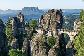 Climbing area - Saxon Switzerland in Germany