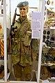 WW2 Free Norwegian Forces soldier of Inter Allied Commando No 5 Troop British battle dress beret Haakon VII H7 monogram Thompson submachine gunUniform for norsk kommandosoldat i utefronten etc. Lofoten Krigsminnemuseum 2019 0023.jpg