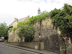 St. Ebbes - Wall in St Ebbe's Street, part of Pembroke College, Oxford.